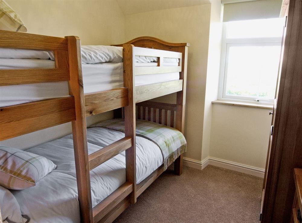 Bunk bedroom at Tyddyn Hen in Sarn, near Pwllheli, Gwynedd