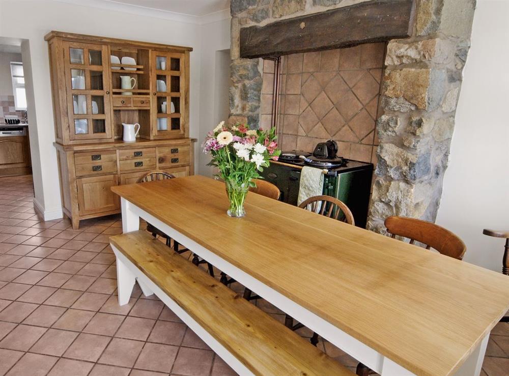 Dining room at Tyddyn Hen in Sarn, near Pwllheli, Gwynedd