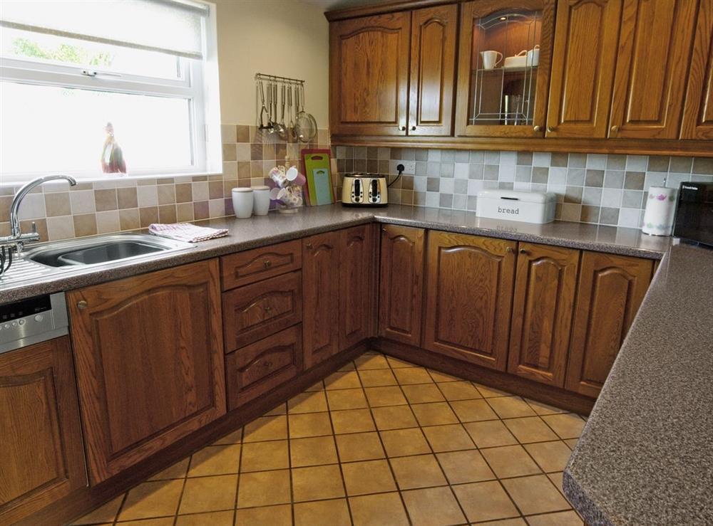 Kitchen at Tyddyn Hen in Sarn, near Pwllheli, Gwynedd