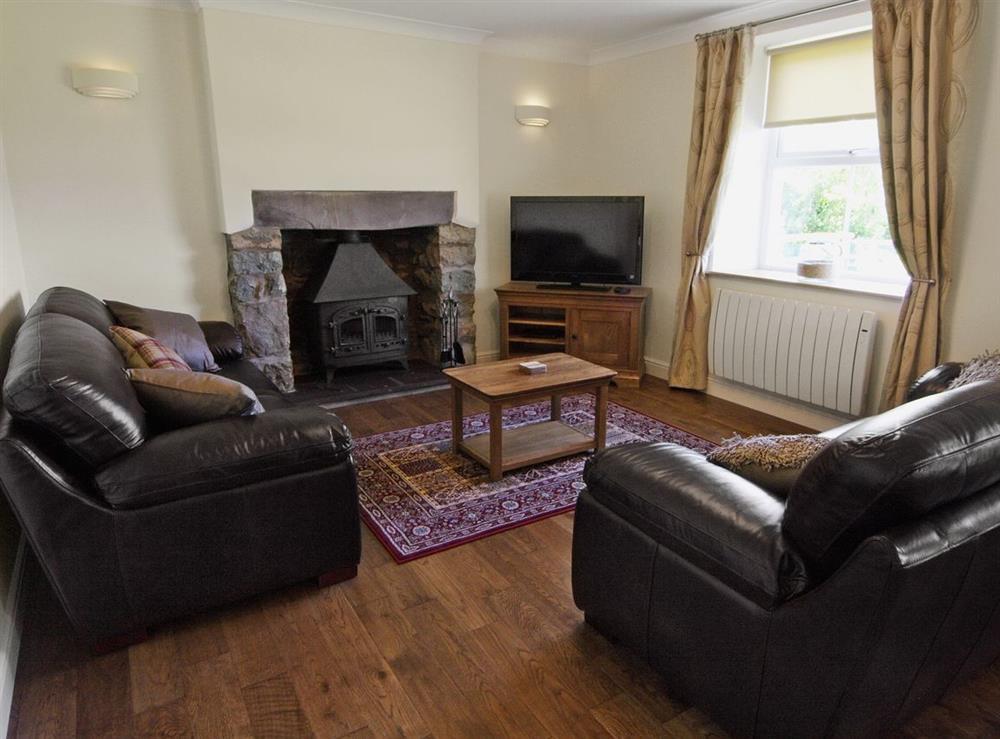 Living room at Tyddyn Hen in Sarn, near Pwllheli, Gwynedd