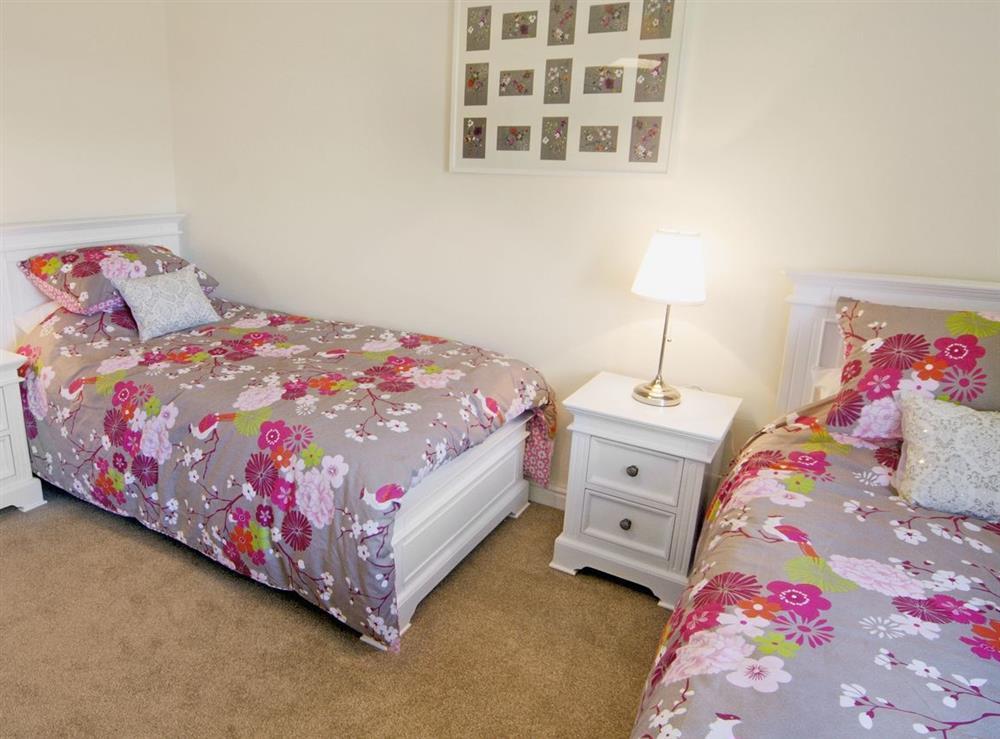 Twin bedroom at Tyddyn Hen in Sarn, near Pwllheli, Gwynedd