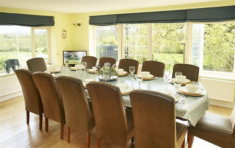 Ground floor: Stunning 40ft farmhouse kitchen/dining room with seating for twelve guests with spectacular views over the meadow  (photo 2)