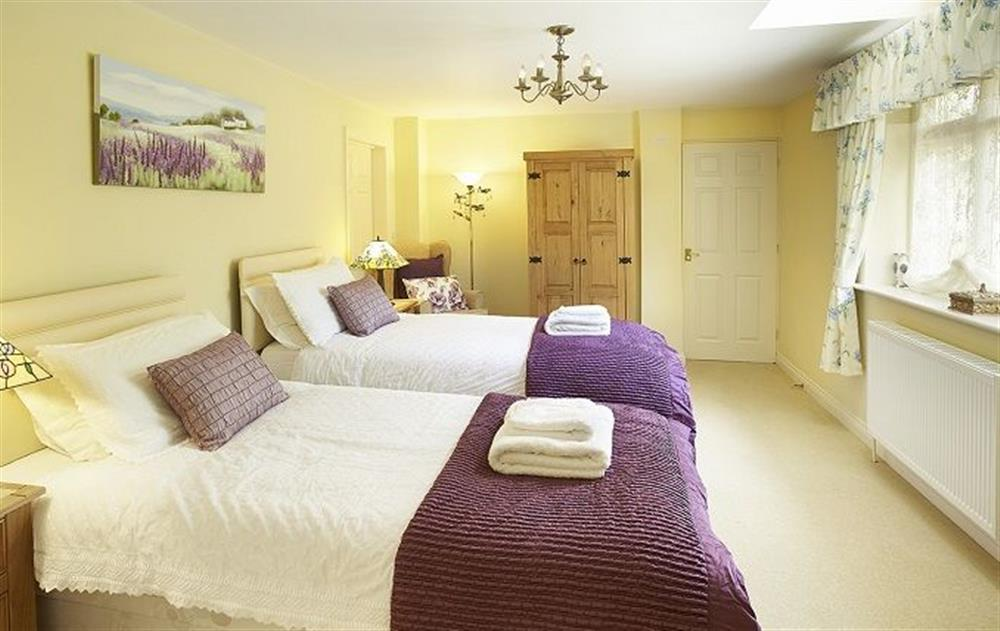 Ground floor: Twin bedroom with 3' beds with fully tiled wet room with shower and wc at Underwood House, East Knoyle