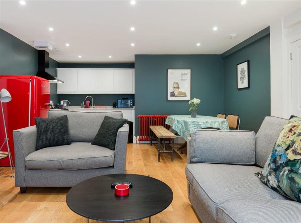 Open plan living space at Union Street in Edinburgh, Midlothian