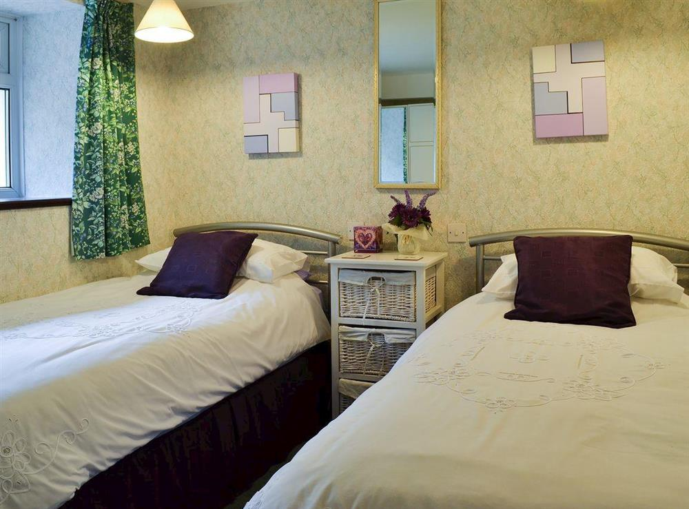 Homely twin bedded room
