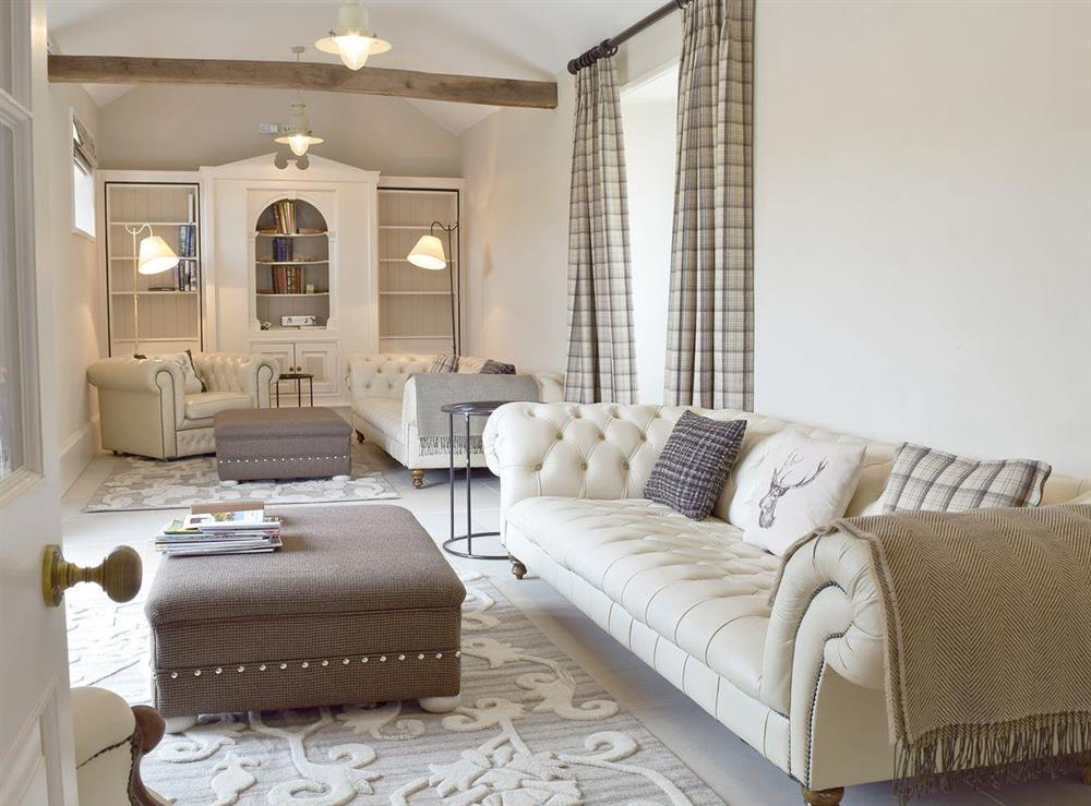 Large drawing room style living room at Valley Farmhouse in Wickham Market, near Ipswich, Suffolk