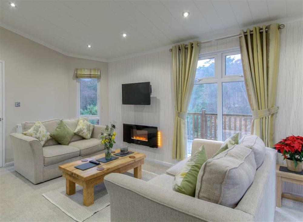 Beautifully presented living area at Valley View Lodge in Weybourne, near Sheringham, Norfolk