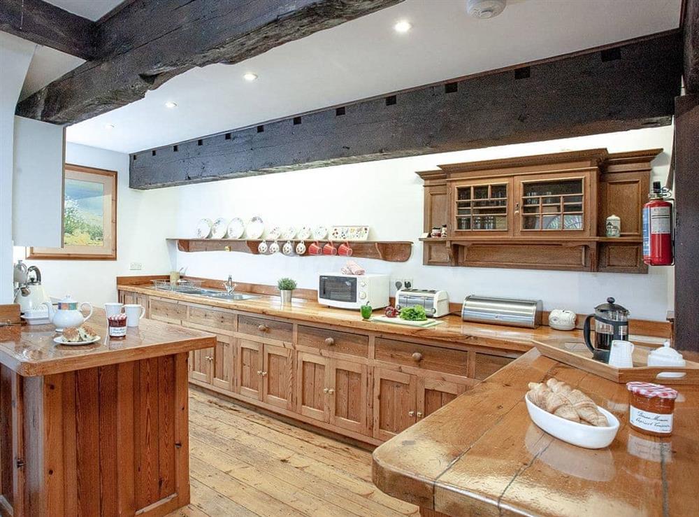 Kitchen at Vat House in Bow Creek, Nr Totnes, South Devon., Great Britain