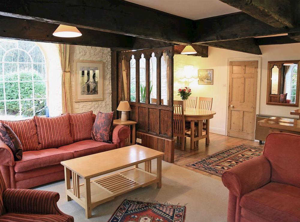 Living room at Vat House in Bow Creek, Nr Totnes, South Devon., Great Britain