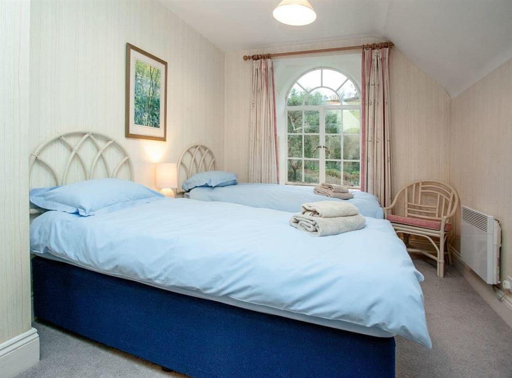 Twin bedroom at Vat House in Bow Creek, Nr Totnes, South Devon., Great Britain