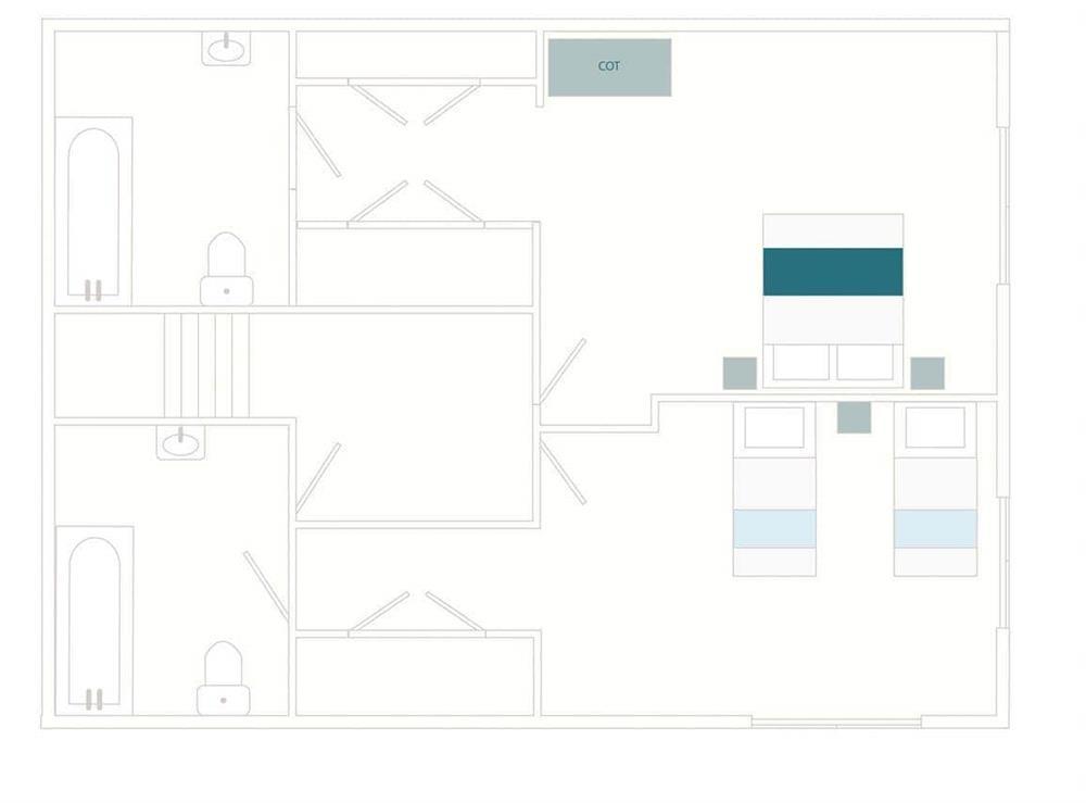 Vat House Floor Plan - First Floor at Vat House in Bow Creek, Nr Totnes, South Devon., Great Britain