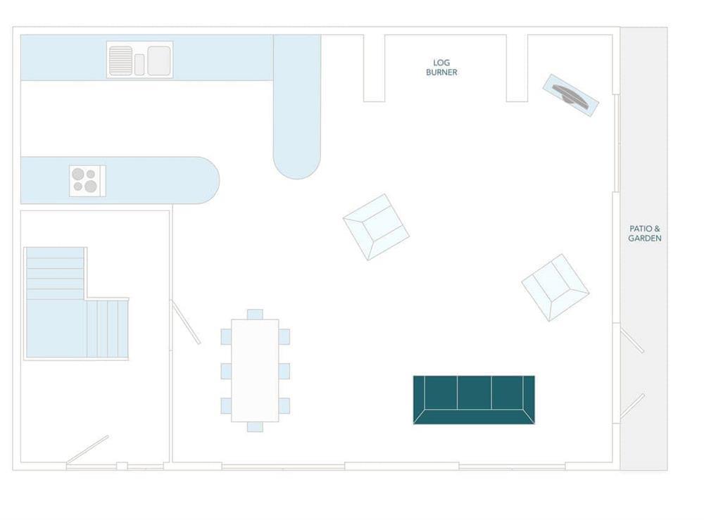 Vat House Floor Plan - Ground Floor at Vat House in Bow Creek, Nr Totnes, South Devon., Great Britain