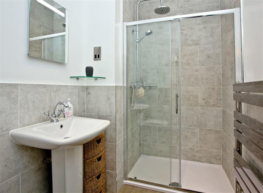 En-suite with large shower cubicle