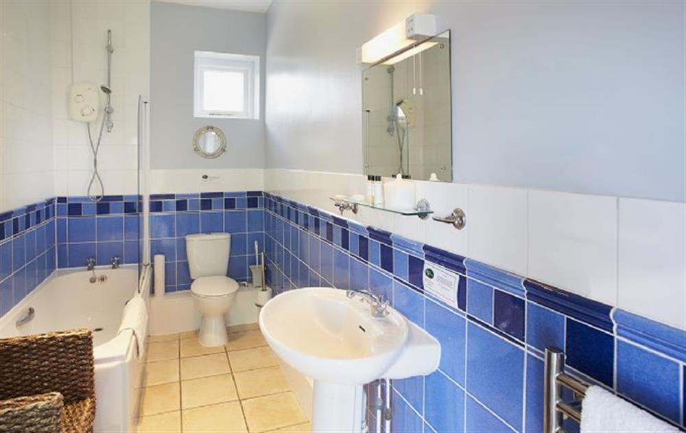 Ground floor:  Bathroom at Veronica Cottage, Anvil Point Lighthouse