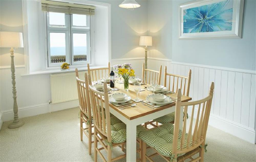 Ground floor: Dining room at Veronica Cottage, Anvil Point Lighthouse
