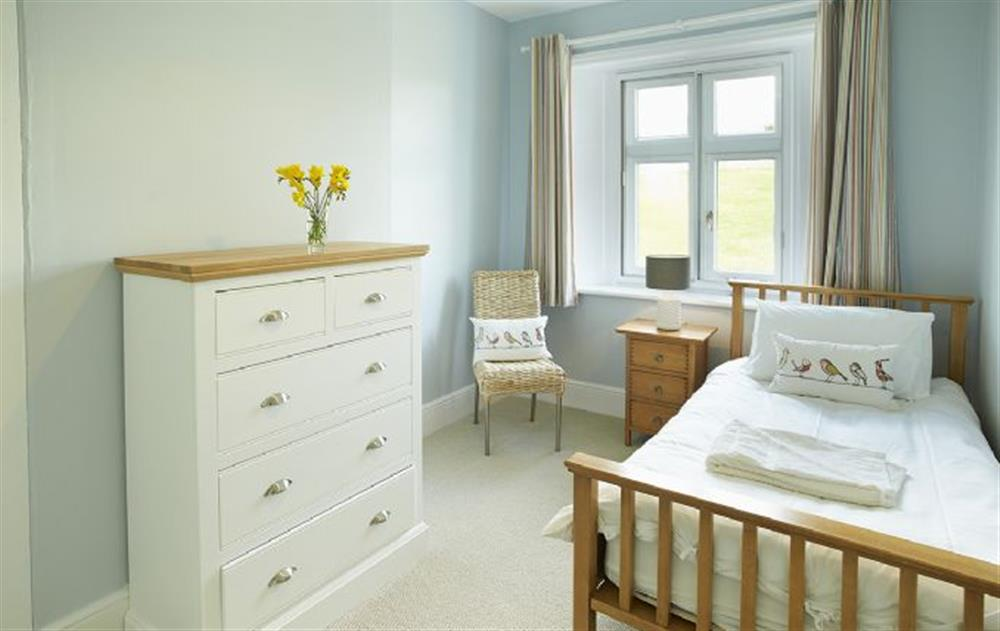 Ground floor:  Single bedroom with 3' bed at Veronica Cottage, Anvil Point Lighthouse