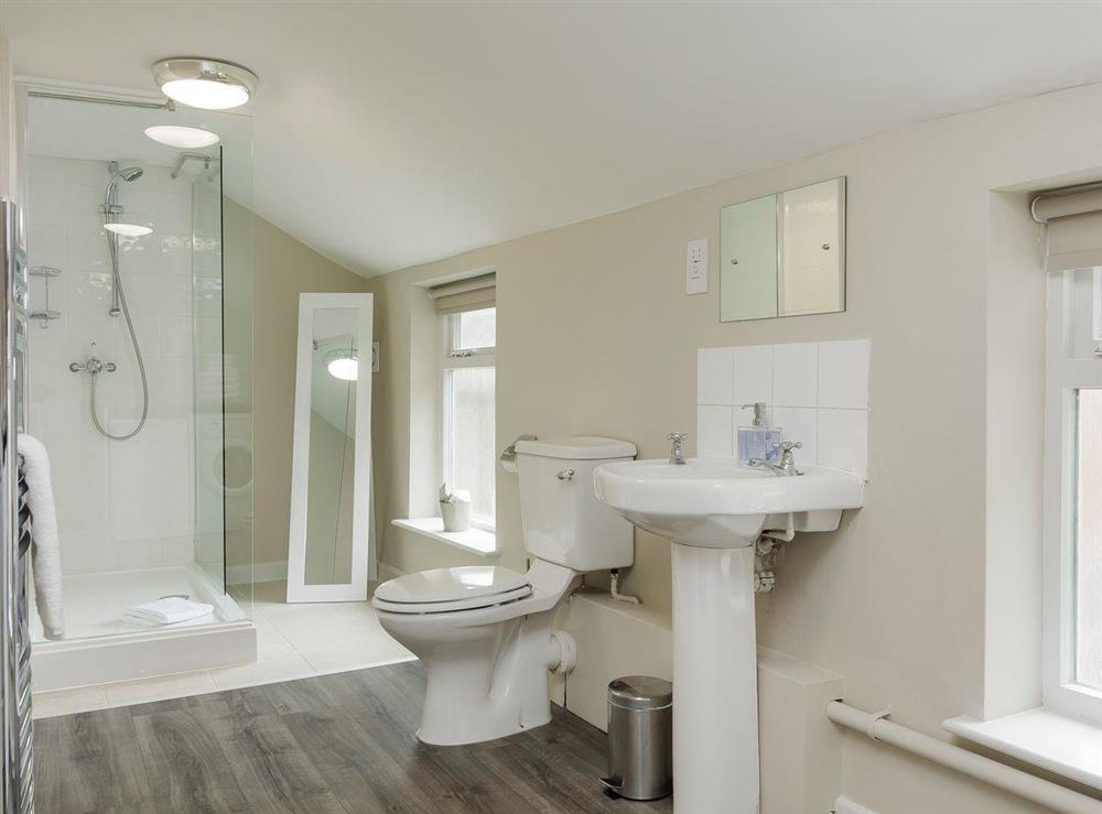 Modern style shower room at No 1 Victoria Apartment,