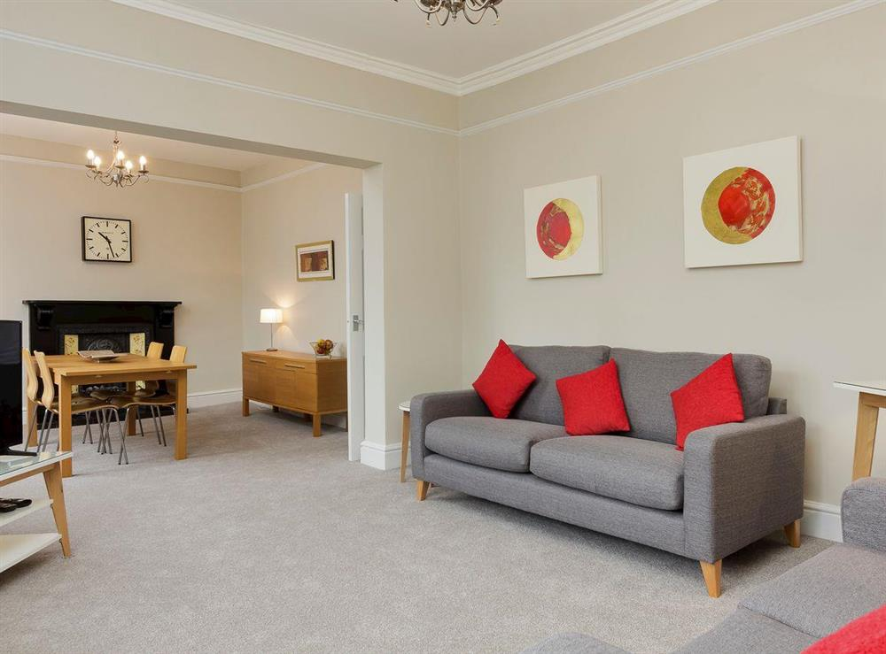Thoughtfully converted living/dining room at No 1 Victoria Apartment,