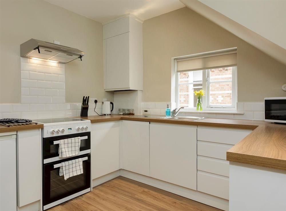 Well equipped kitchen at No 1 Victoria Apartment,