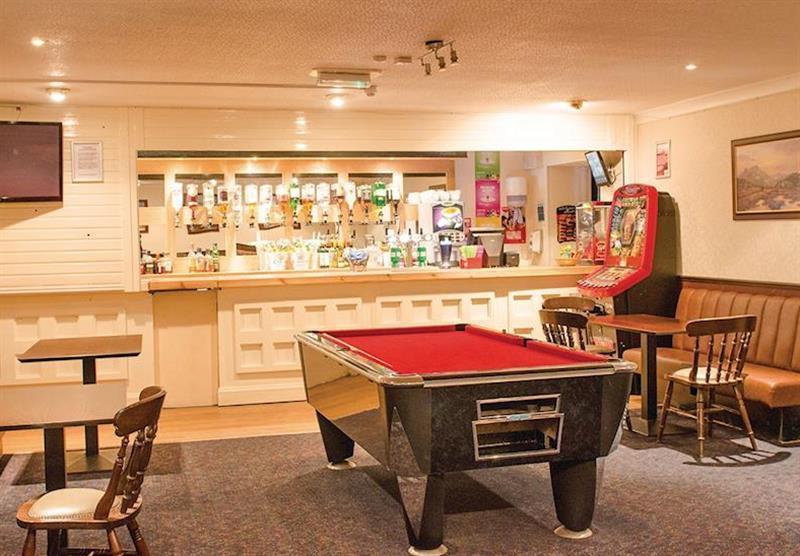 Bar and pool table at Viewfield Manor Holiday Park in Kilwinning, Ayrshire