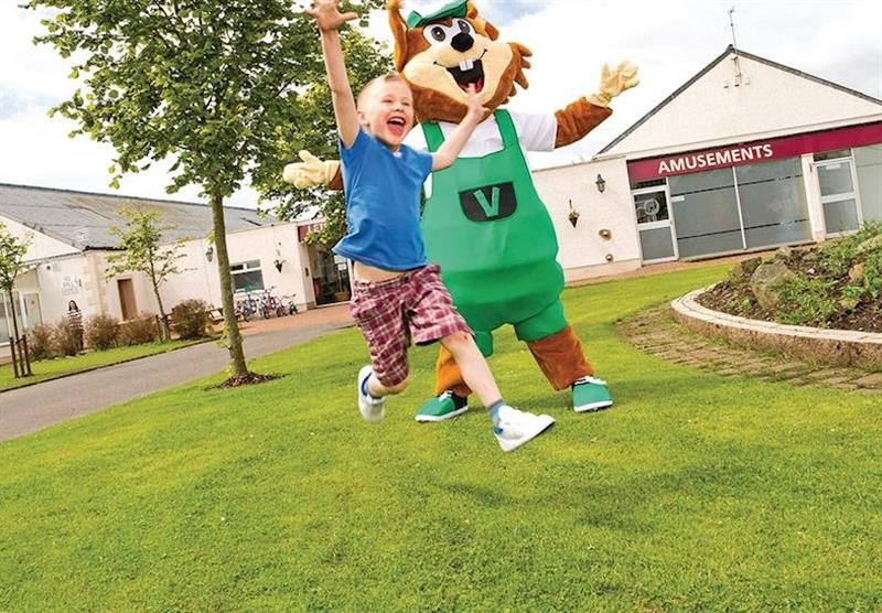 Children's entertainment at Viewfield Manor Holiday Park in Kilwinning, Ayrshire