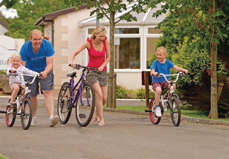 Cycling at Viewfield Manor Holiday Park in Kilwinning, Ayrshire