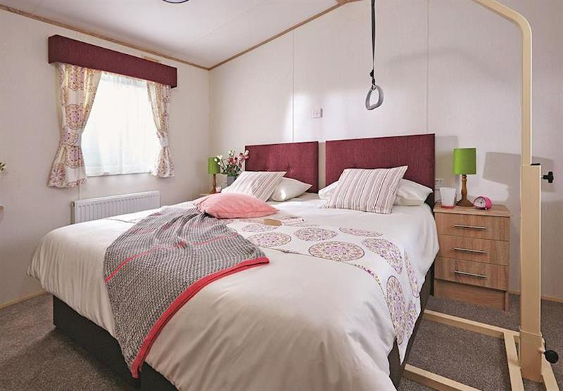 Double bedroom in the Superior Caravan 2 (photo number 2) at Viewfield Manor Holiday Park in Kilwinning, Ayrshire