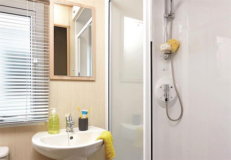 Shower-room in Superior Caravan 2 at Viewfield Manor Holiday Park in Kilwinning, Ayrshire