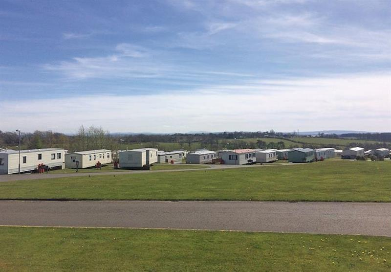 The setting of the caravans at Viewfield Manor Holiday Park in Kilwinning, Ayrshire