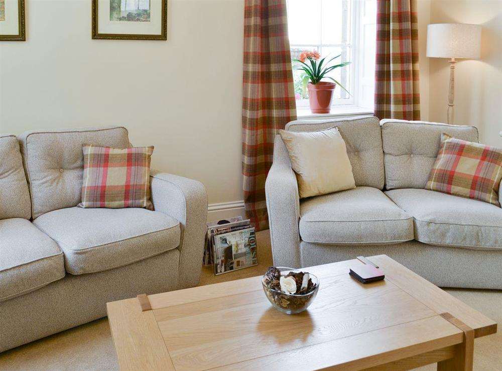 Comfy furnishings in living room at Anderson,