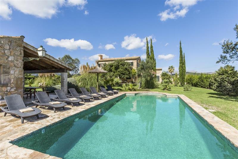 Swimming pool at Villa Amparo, Alcudia, Spain