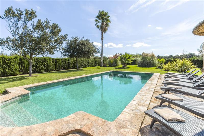 The garden and pool at Villa Amparo, Alcudia, Spain