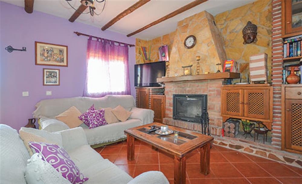 Living room at Villa Amparo, Frigiliana, Andalucia