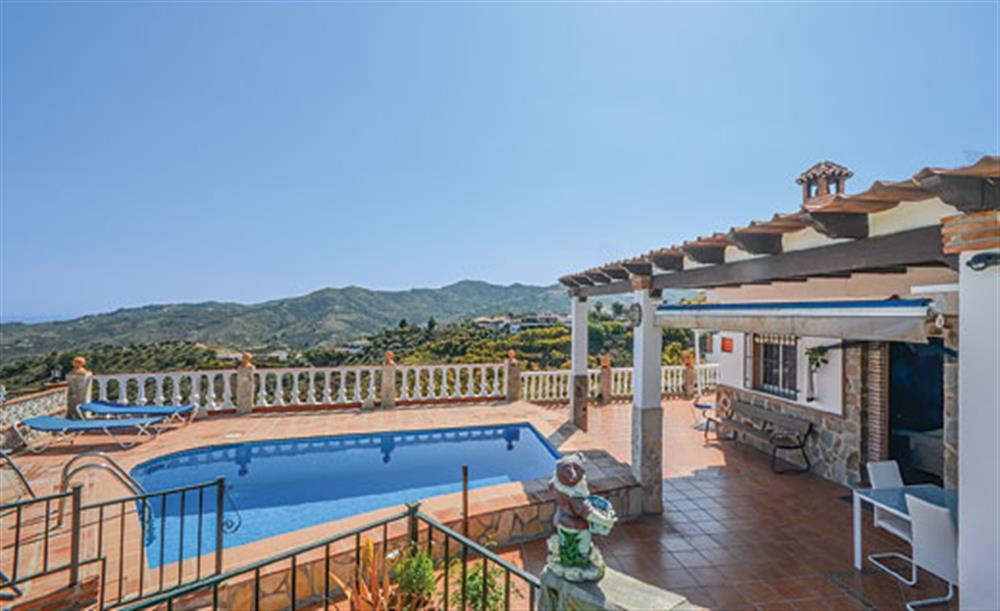 Swimming pool with a view at Villa Amparo, Frigiliana, Andalucia
