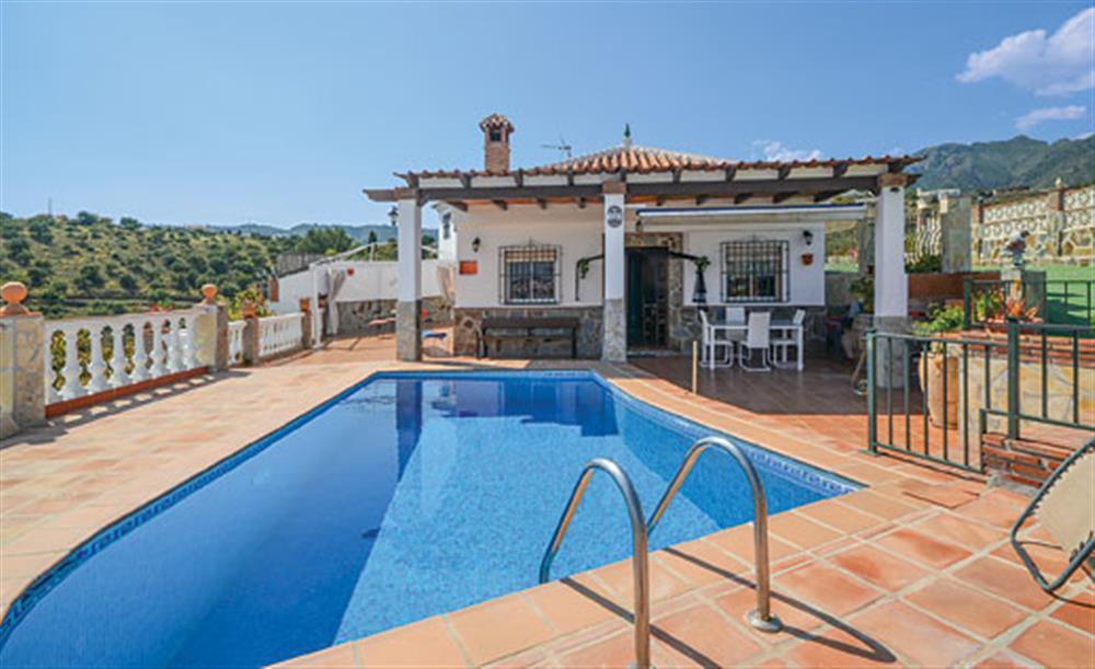 Swimming pool at Villa Amparo, Frigiliana, Andalucia