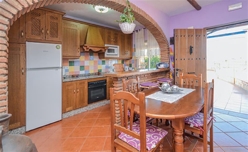 The kitchen at Villa Amparo, Frigiliana, Andalucia
