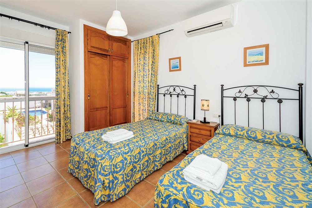Twin bedroom at Villa Ana, Nerja, Andalucia