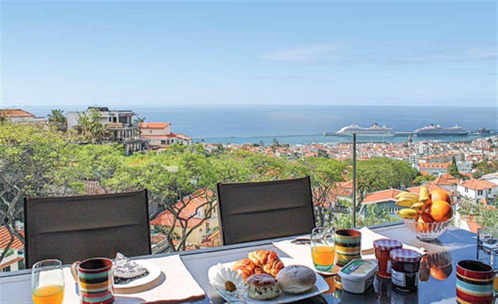 Dining with a view at Villa Andrade, Funchal, Madeira