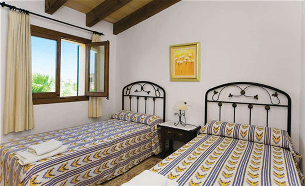 Twin bedroom at Villa Antonias , Pollensa Mallorca, Spain