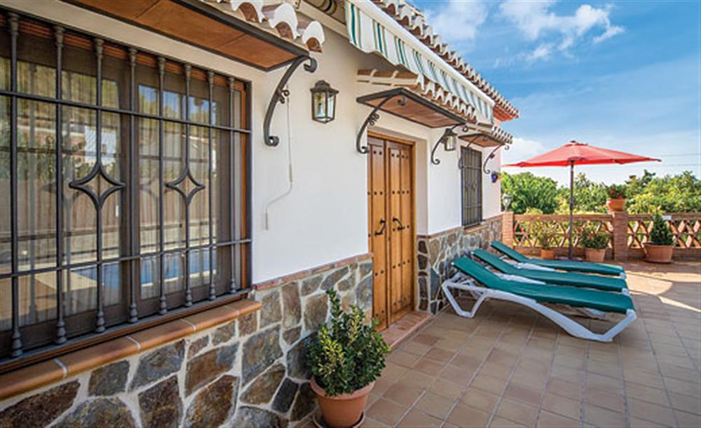 Sun loungers at Villa Aurora, Nerja Andalucia, Spain
