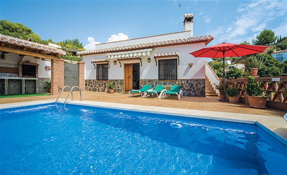 Swimming pool at Villa Aurora, Nerja Andalucia, Spain