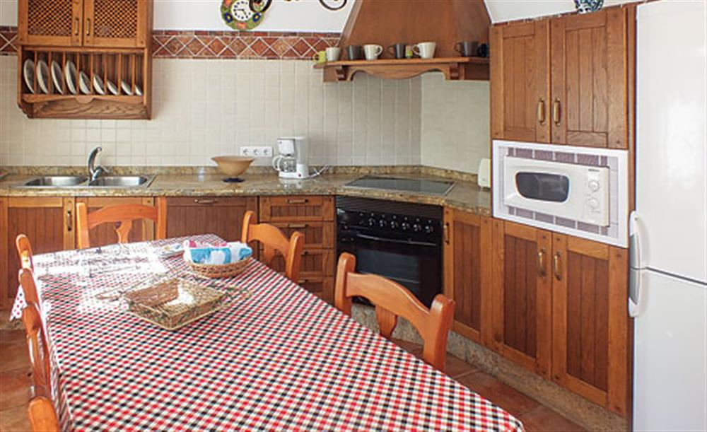 The kitchen at Villa Aurora, Nerja Andalucia, Spain