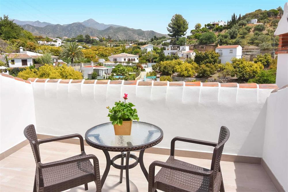 Balcony, view at Villa Aurorita, Nerja, Andalucia