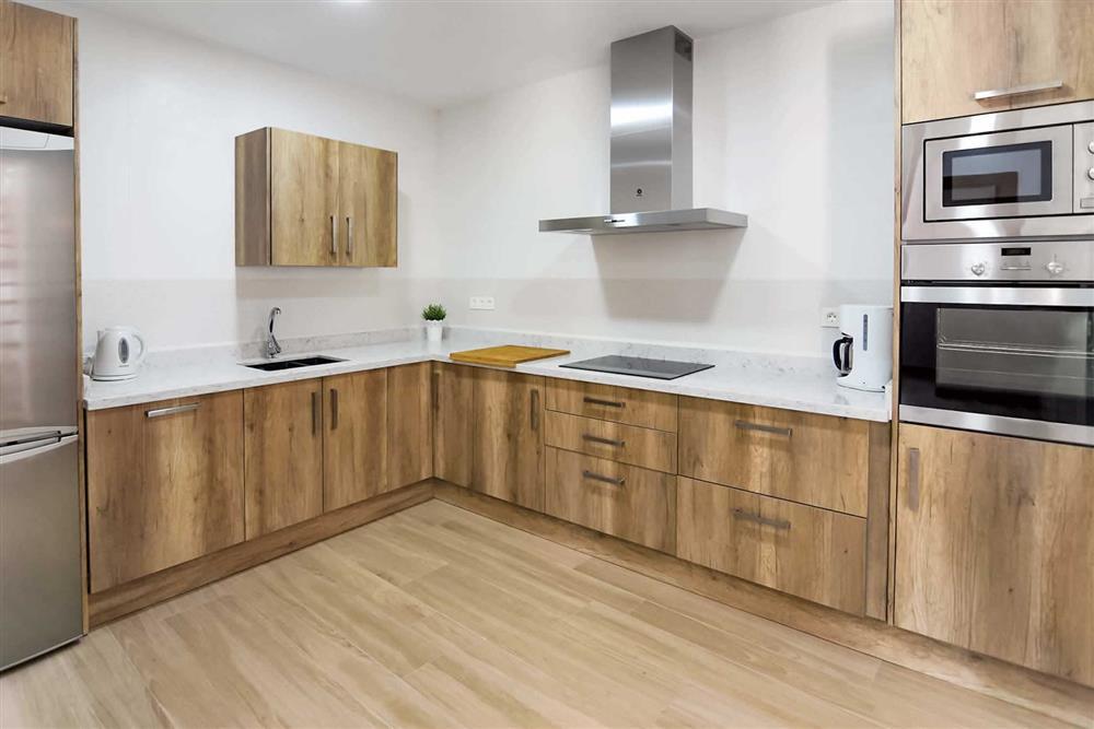 Kitchen at Villa Aurorita, Nerja, Andalucia