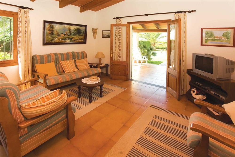 Living room at Villa Bosque, Pollensa Mallorca, Spain
