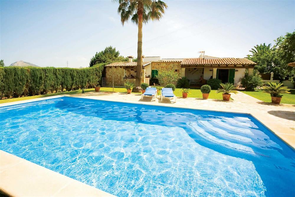 Swimming pool at Villa Bosque, Pollensa Mallorca, Spain
