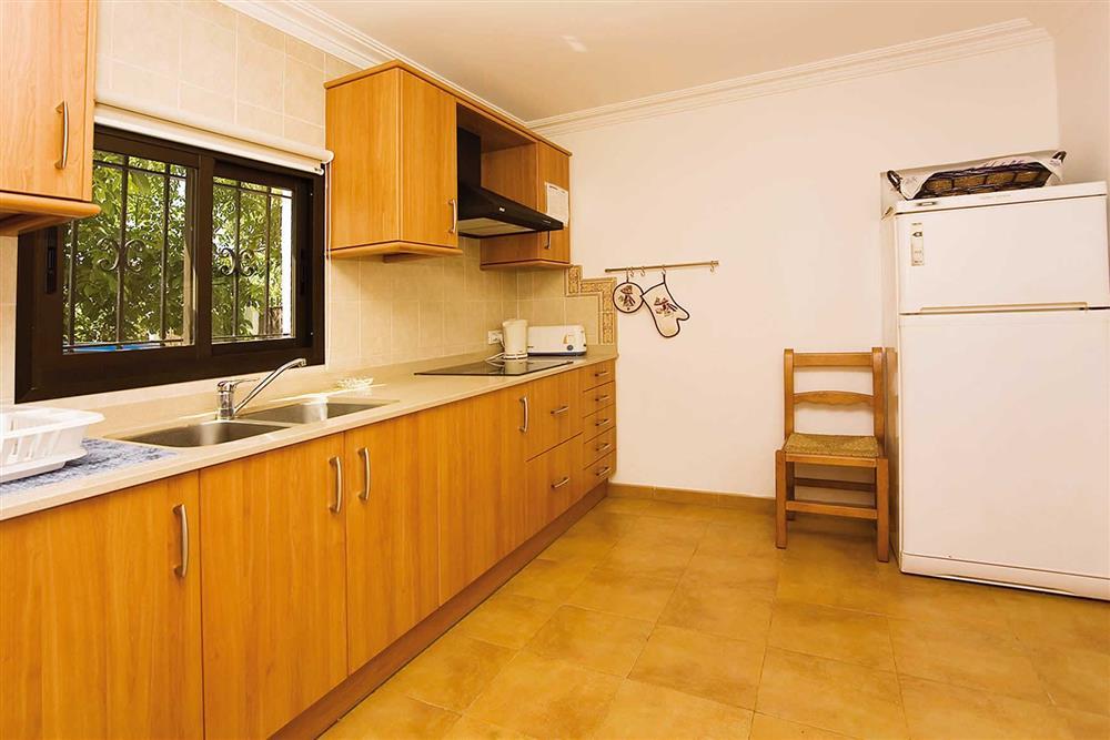 The kitchen at Villa Bosque, Pollensa Mallorca, Spain
