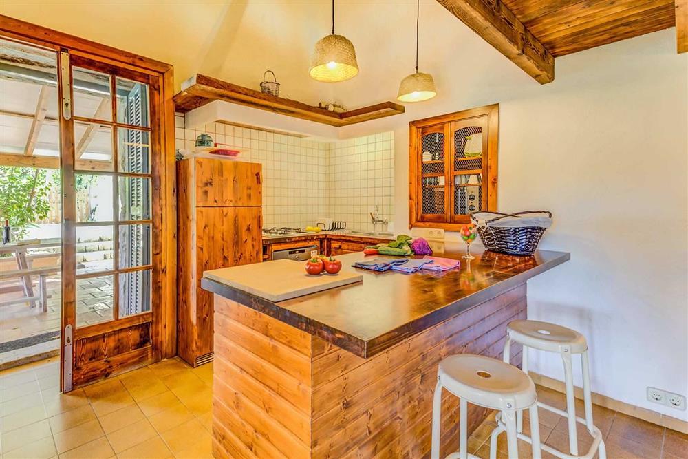 Kitchen at Villa Cabanellas, Pollensa, Mallorca
