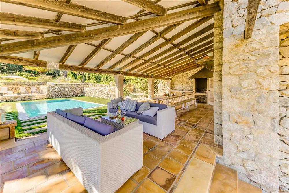 Seating area at Villa Cabanellas, Pollensa, Mallorca