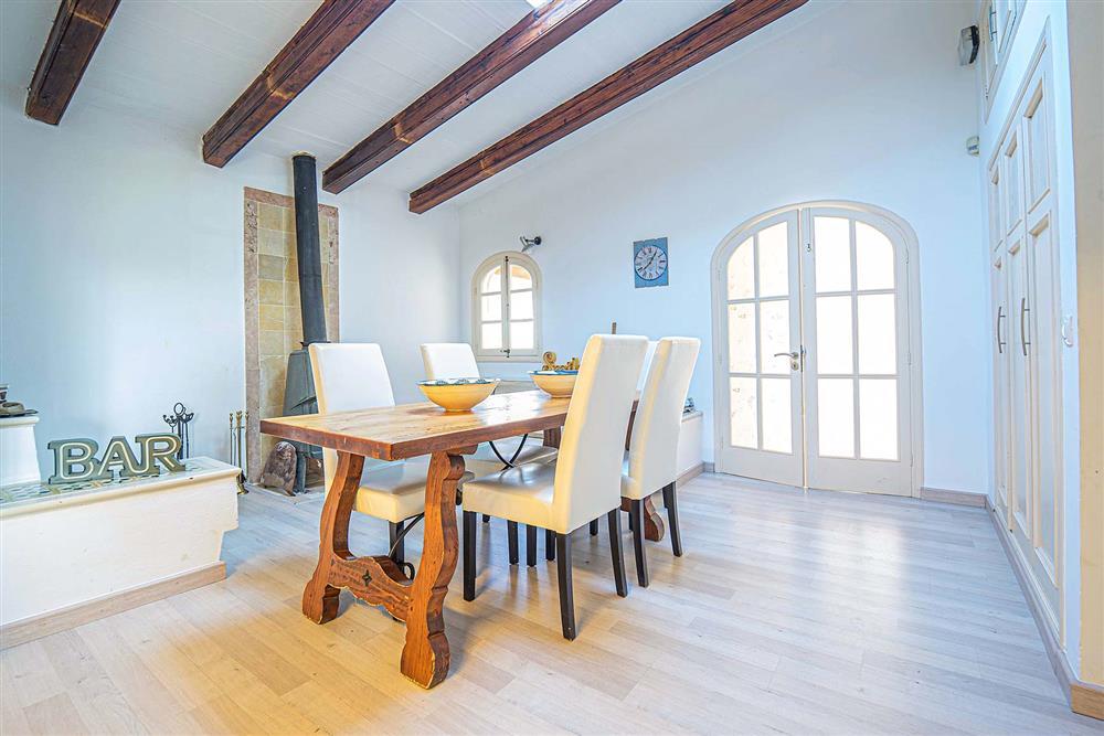 Dining area at Villa Can Bobis Gran, Pollensa, Mallorca
